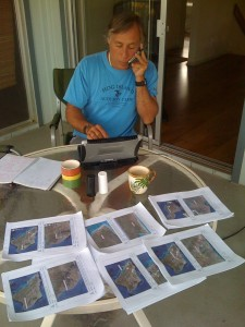 Mark DiGirolamo has expertise in surveying birds in North, Central and South America. Here he is reviewing maps before heading into the field.